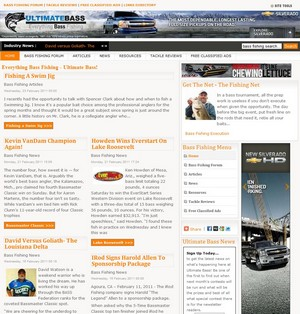 Ultimate Bass has bass fishing articles about many different topics that include bass fishing techniques, seasonal patterns, tips from the pros and much more.